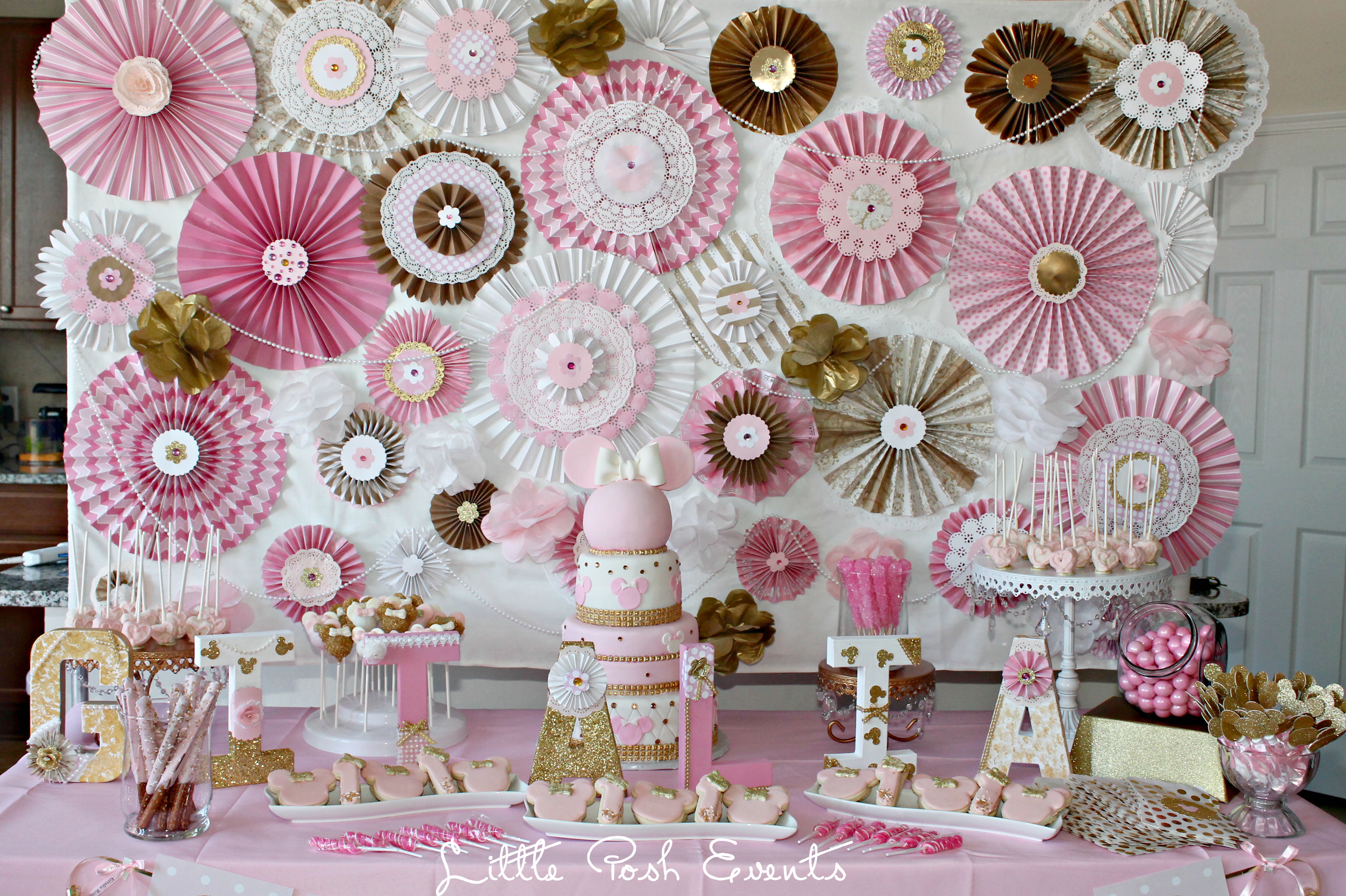 Pink And Gold Minnie Mouse Birthday Party Inspired